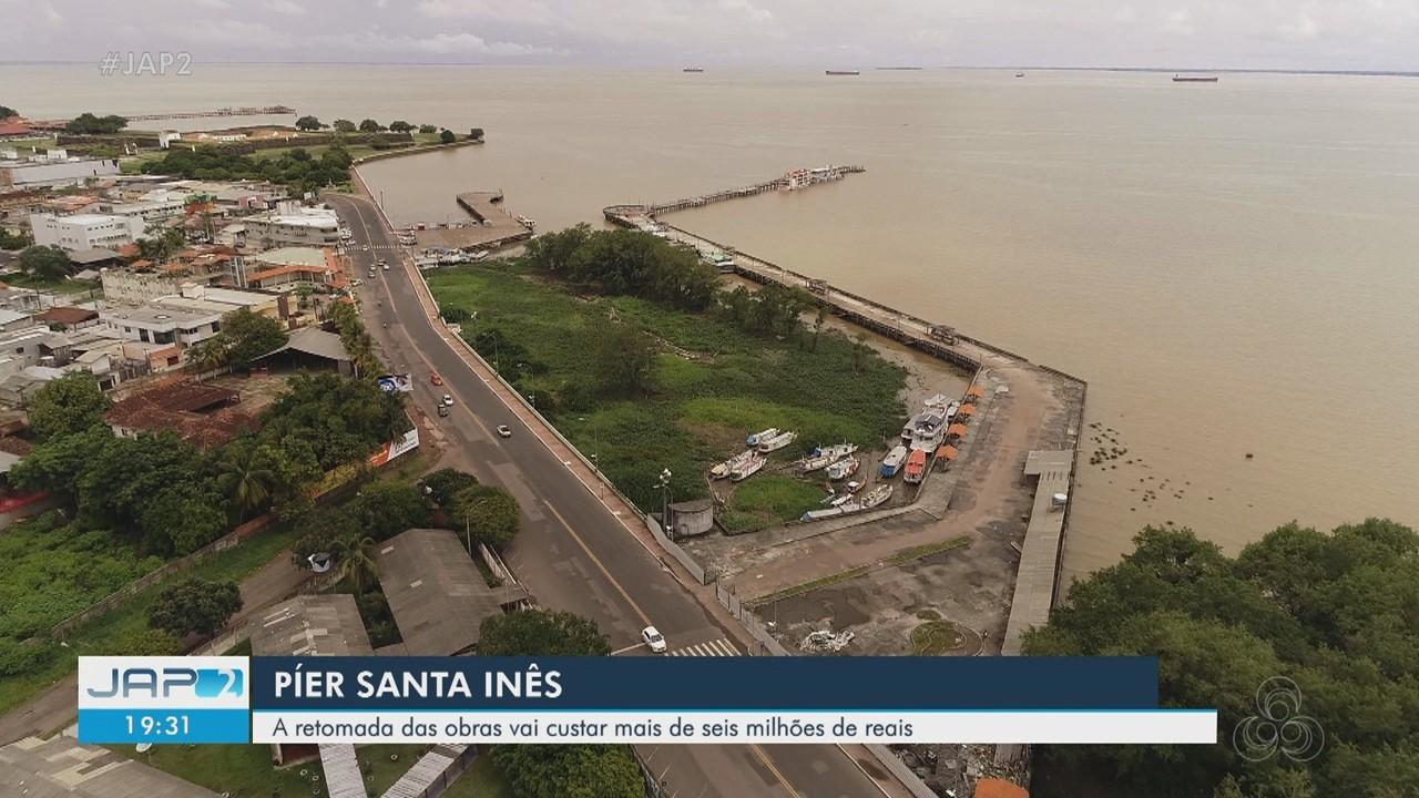Obra do píer do Santa Inês, em Macapá, vai custar R$ 6 milhões para ser retomada