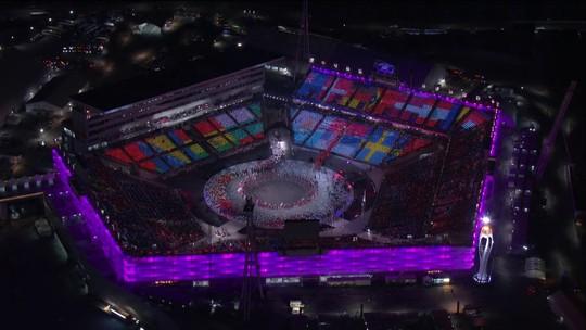 Até 2022! Coreias lado a lado, drones e fogos marcam cerimônia de encerramento