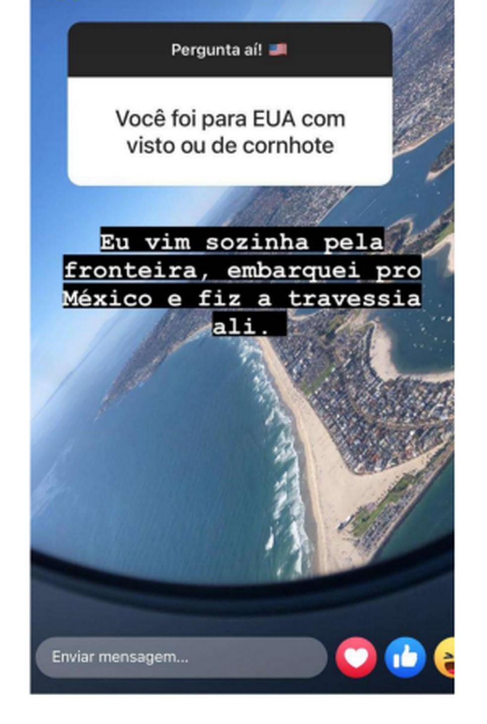 Ângela responde um seguidor sobre o processo de viagem para os EUA — Foto: Reprodução