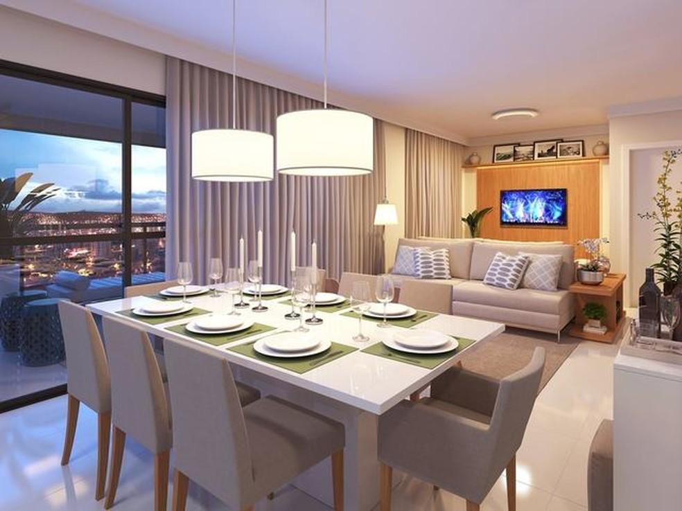 Apartamento pode ter cômodo estendido para personalizar de acordo com o perfil dos moradores  — Foto: Bild/Divulgação