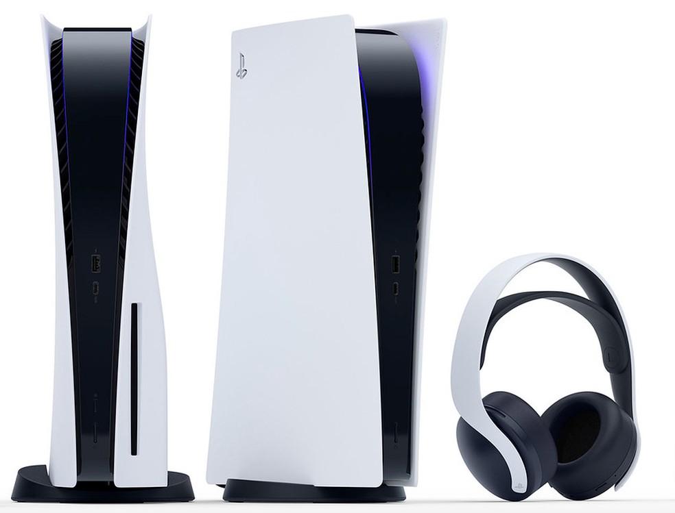 Ainda sem detalhes, fone de ouvido acompanha a cor do PS5 — Foto: Divulgação/Sony