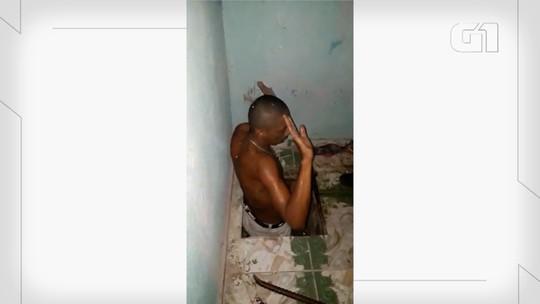 Fugitivo de Alcaçuz é encontrado dentro de buraco no quarto de uma casa na Grande Natal; veja vídeo