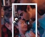 Momento romântico compartilhado por Grazi Massafera e Caio Castro | Reprodução Instagram