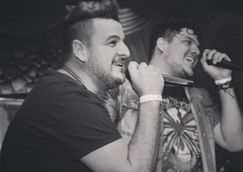 A dupla sertaneja Fábio & Guilherme de Passos (MG) — Foto: Arquivo Pessoal