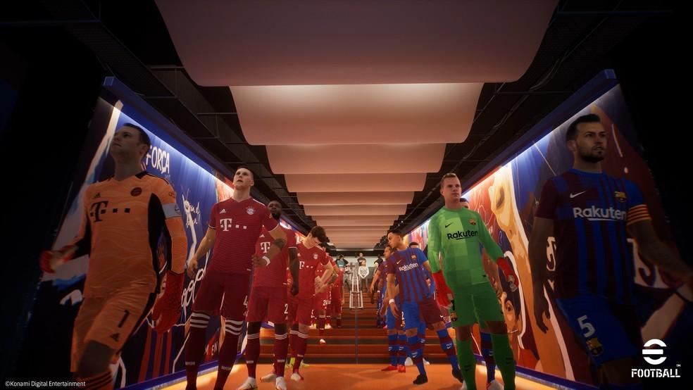 Atualizações do eFootball permitirão duelos entre usuários de console, mobile e PC — Foto: Divulgação/Konami