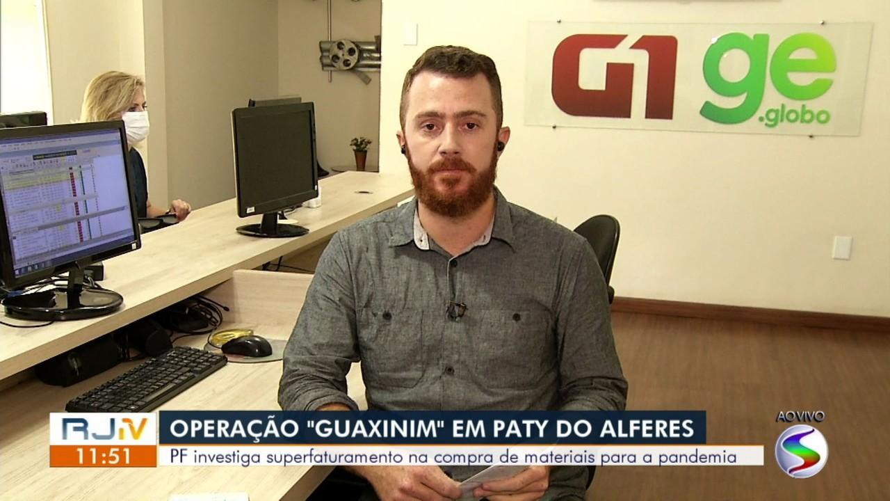 PF investiga compra de materiais para combater Covid-19, em empresa de Paty do Alferes