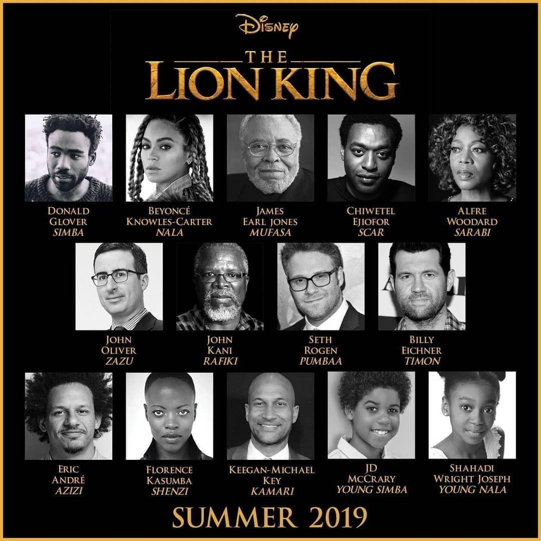 O elenco de O Rei Leão 2019 (Foto: Reprodução / Instagram)