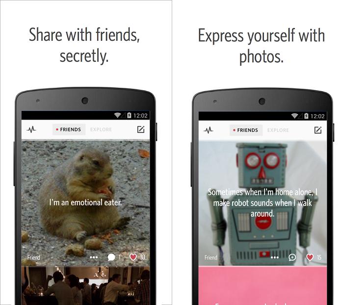 Secret é um app para compartilhar segredos com amigos anonimamente (Foto: Reprodução/Secret)