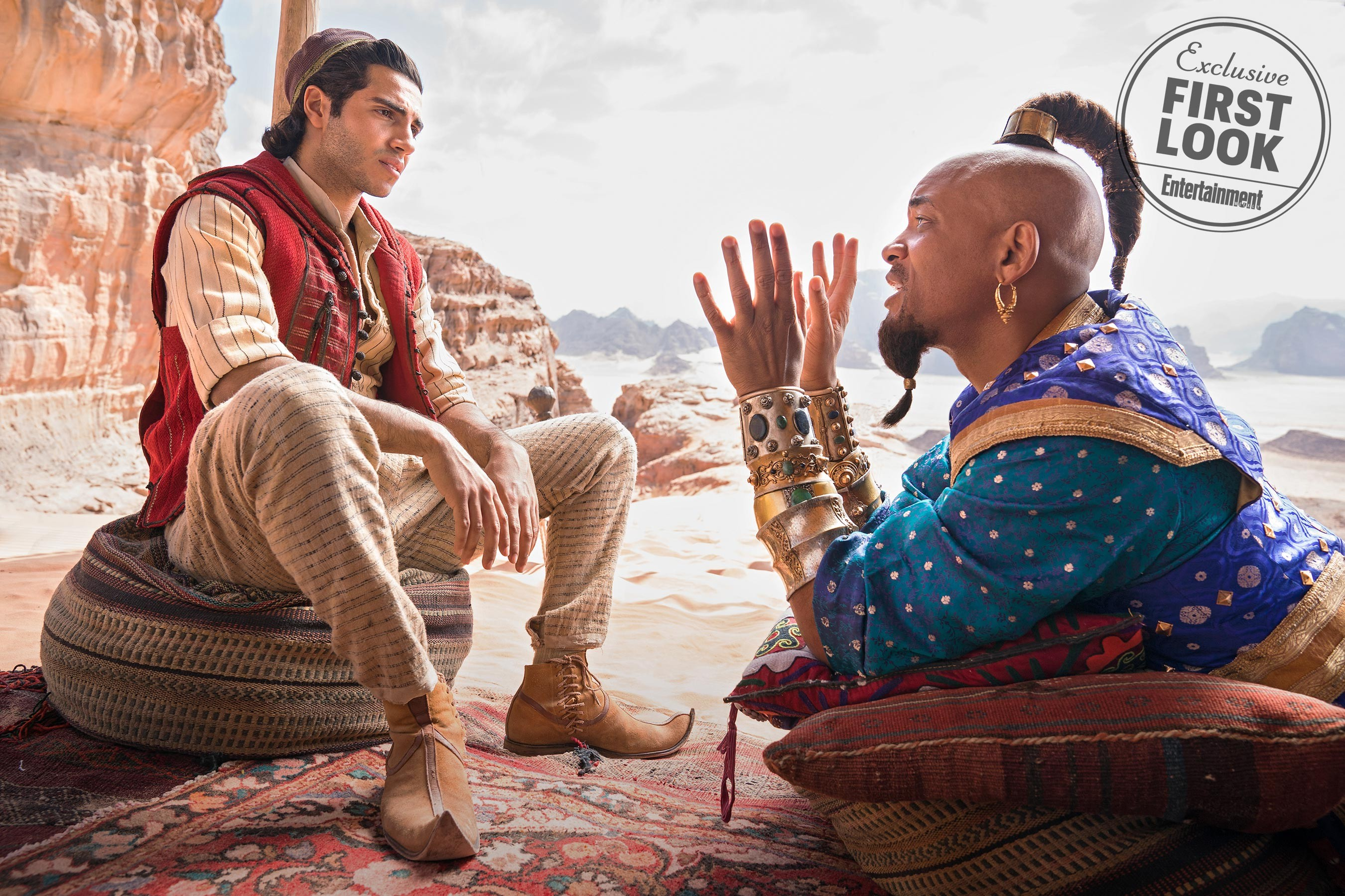 Aladdin e o Gênio da Lâmpada na nosa live-action (Foto: Entertainment Weekly)
