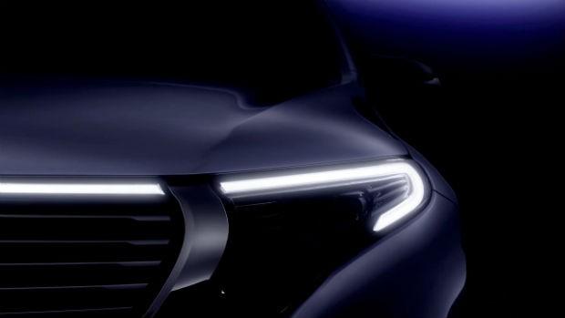 Mercedes revela teaser do EQC, primeiro SUV totalmente elétrico de produção  (Foto: Divulgação)
