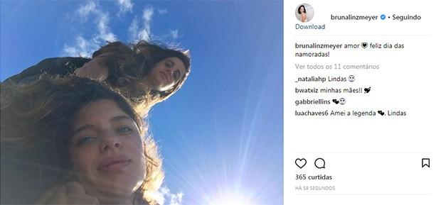 Bruna Linzmeyer e Priscila Visman (Foto: Reprodução/ Instagram)
