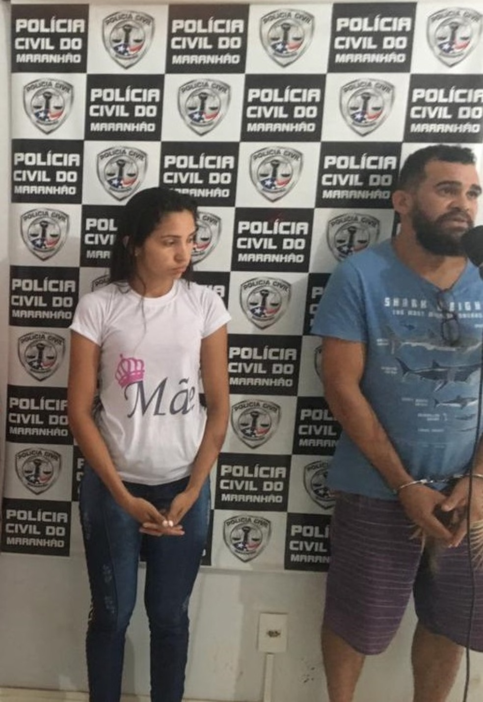 Cristiano Alves Vieira e Fernanda da Silva de Oliveira foram presos durante operação contra pedofilia em Bom Jesus das Selvas — Foto: Divulgação/Polícia