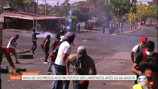 Mais de 100 presos são libertados após lei da anistia na Nicarágua
