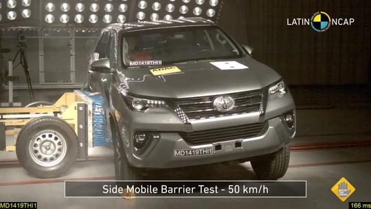 Toyota Hilux leva 5 estrelas em teste de colisão do Latin NCap; Nissan Frontier fica com 4