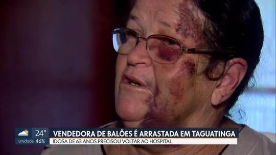 Dono de carro que arrastou idosa em Taguatinga presta depoimento