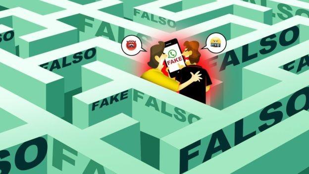 Padrão de áudios que circulam no WhatsApp: conversa entre 'amigos' que parece ter sido vazada fala bem de candidato (Foto: Ilustração Brum via BBC News Brasil)