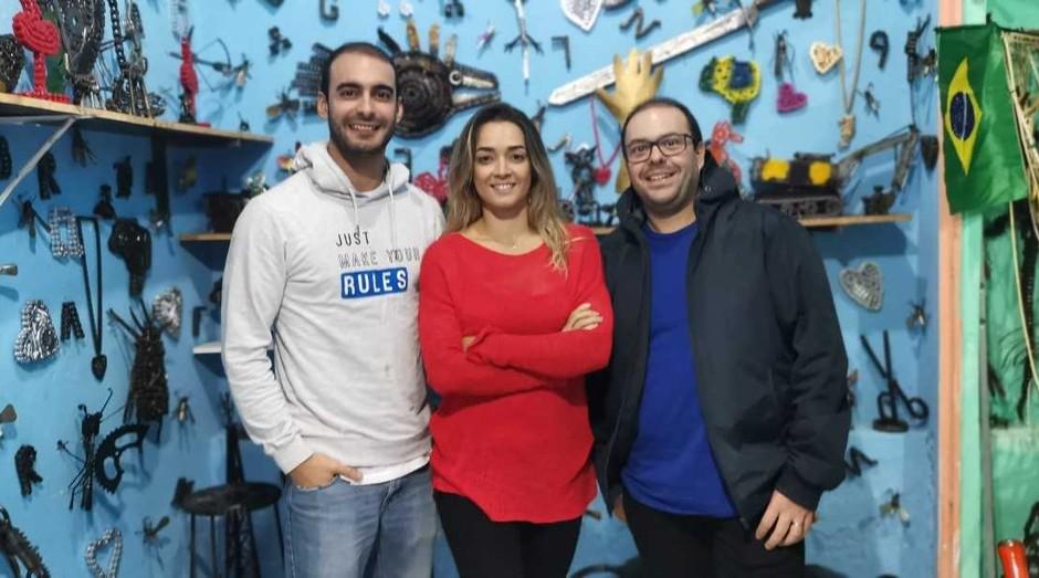 Da esq para dir Marco Barbosa, Telma Figueiredo e  Rui Ramos (Foto: Divulgação)