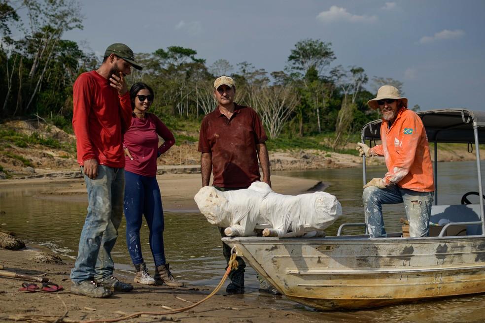 Expedições ocorrem desde 2019 no Rio Purus  — Foto: Ruan Fogo