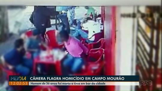 Câmera de monitoramento flagra homicídio em Campo Mourão