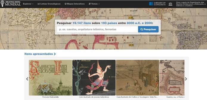 Biblioteca Mundial Digital reúne documentos históricos raros (Foto: Reprodução/Biblioteca Digital Mundial)