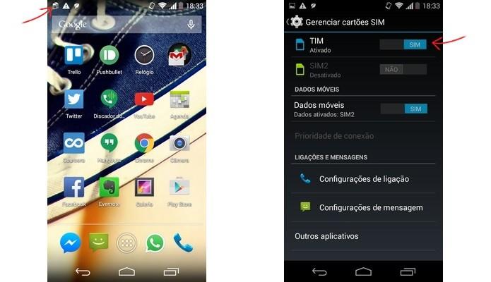 Telas do Android para configuração do chip (Foto: Reprodução/Raquel Freire)
