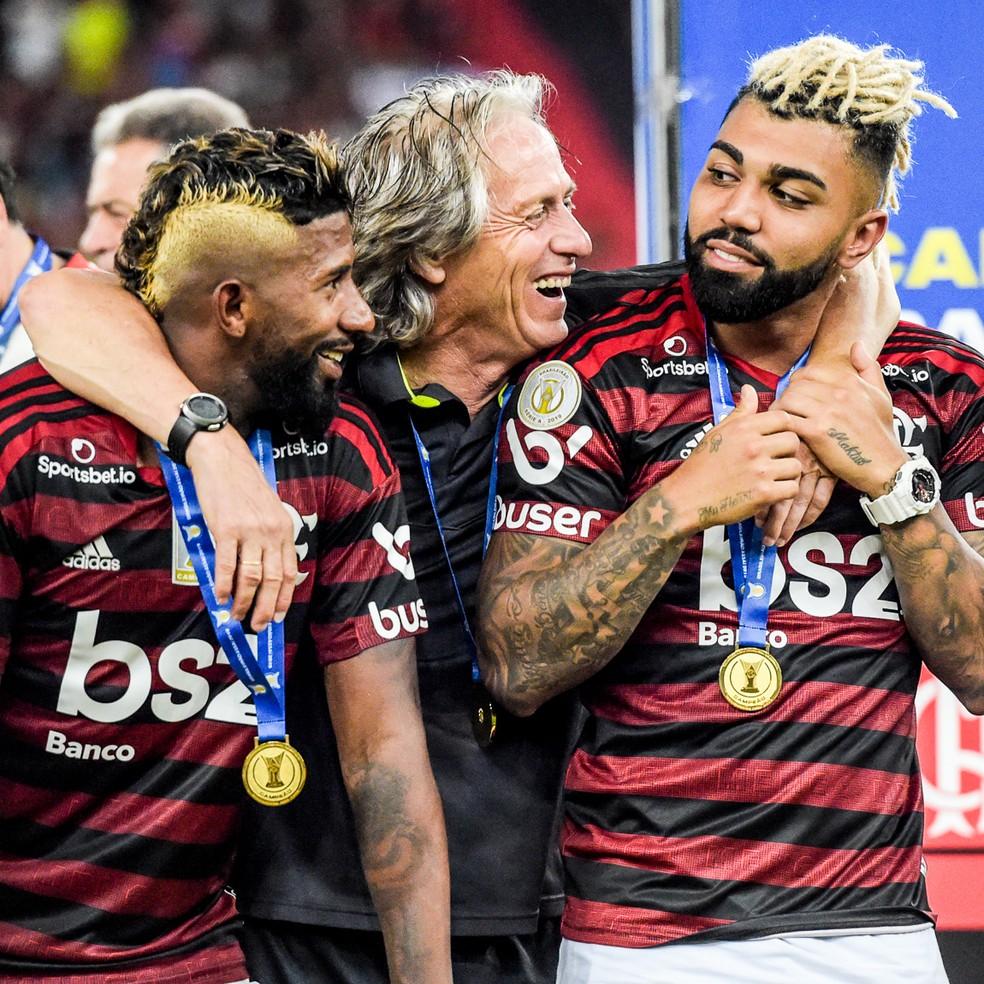 Atualmente no Inter, Rodinei foi campeão pelo Flamengo em 2019 — Foto: Jorge R Jorge/BP Filmes