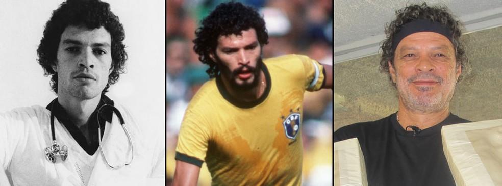 Formado em Medicina, Sócrates foi ídolo no Corinthians e brilhou na seleção brasileira (Foto: Montagem)