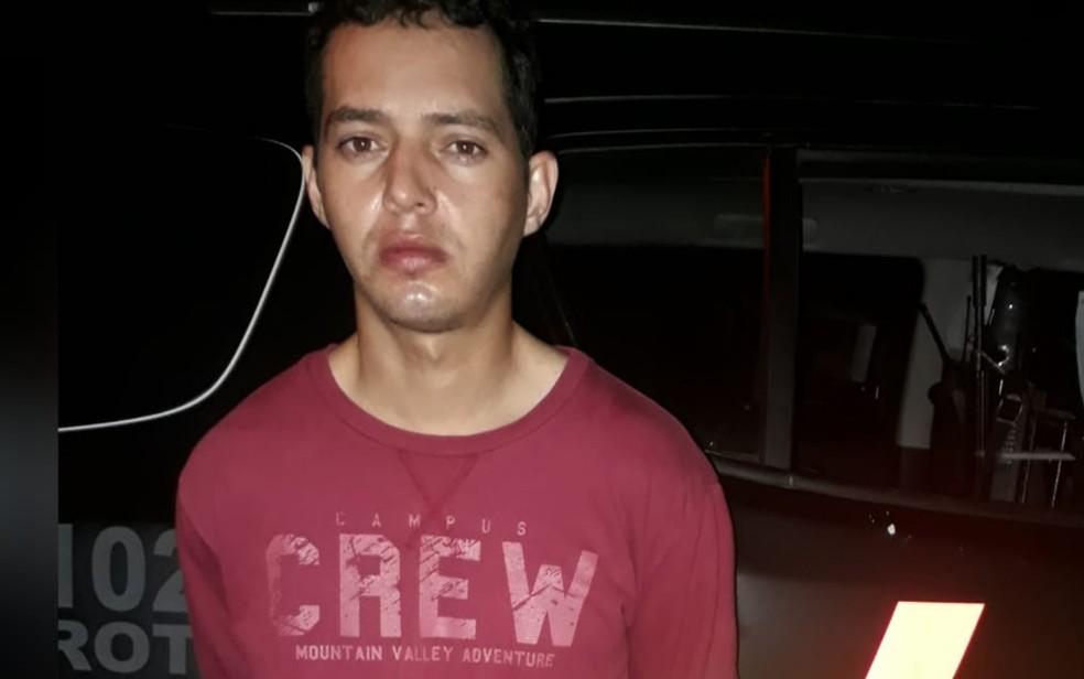 Edvaldo Trindade dos Santos é preso suspeito de participar de homicídio em Goiânia, Goiás — Foto: Divulgação/Rotam