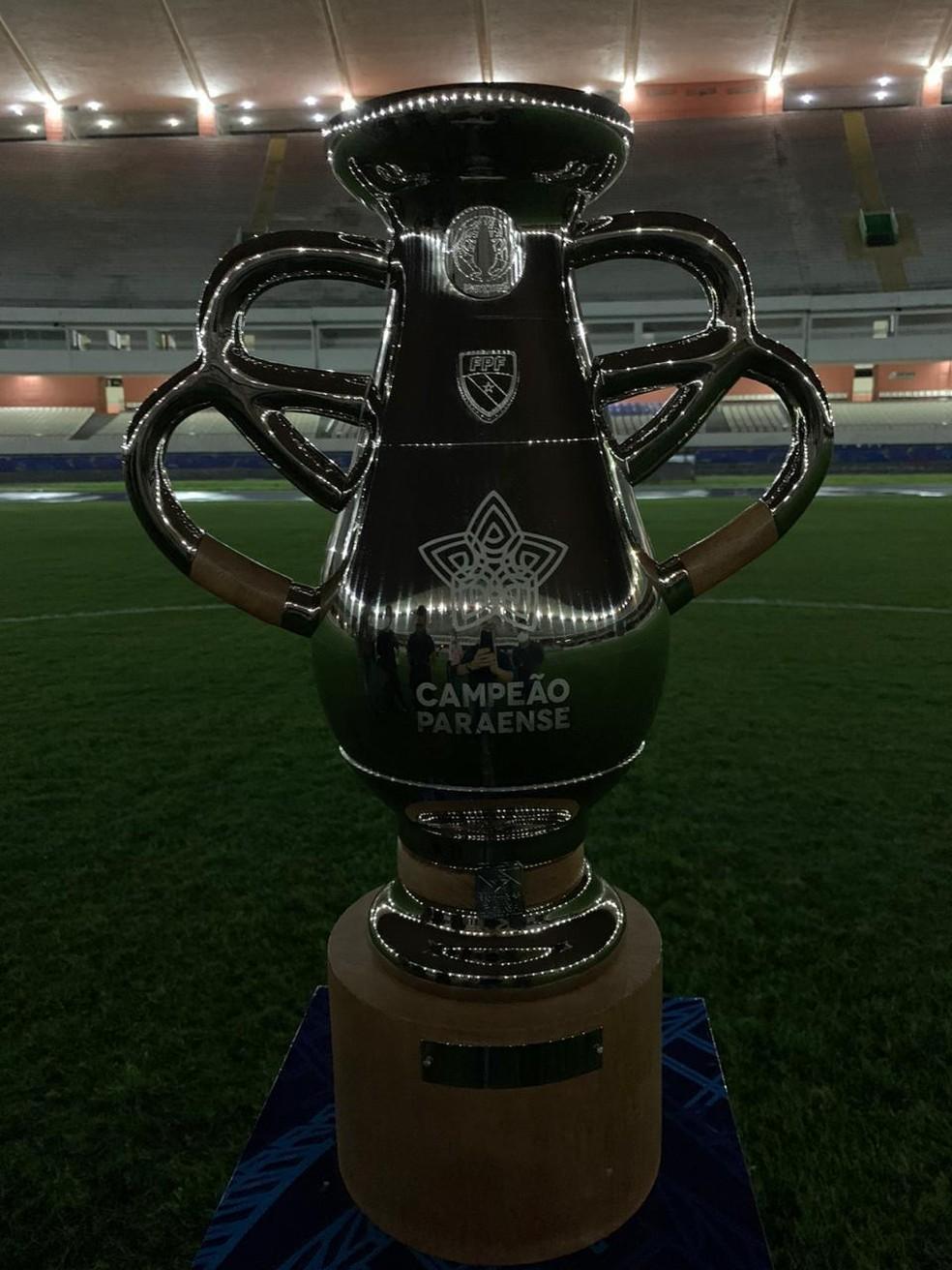 Taça de campeão do Campeonato Paraense 2020 — Foto: Divulgação