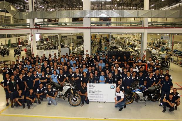 Fábrica da BMW Motorrad em Manaus (AM) começa a produzir a F 850 GS Adventure (Foto: Divulgação)