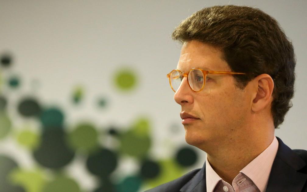 O ministro do Meio Ambiente, Ricardo Salles, em foto do dia 17 de janeiro — Foto: Marcelo Camargo/Agência Brasil