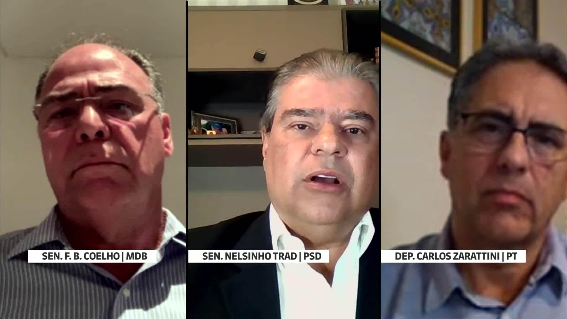 GloboNews Debate: Nelsinho Trad, Carlos Zarattini e Fernando Bezerra Coelho debatem suposto dossiê