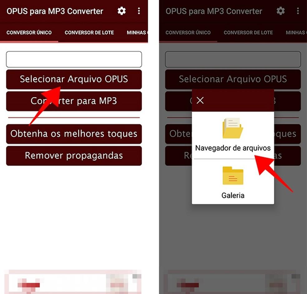 Importe arquivos OPUS do celular (Foto: Reprodução/Paulo Alves)