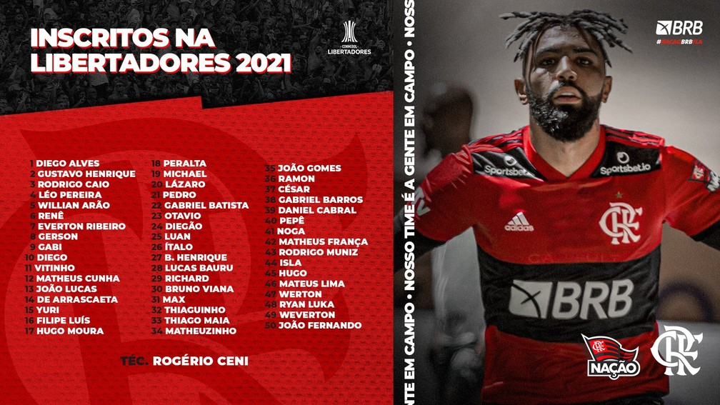 Inscritos Flamengo Libertadores — Foto: Reprodução