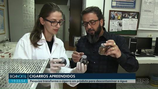 Pesquisa transforma o cigarro em produto para descontaminar a água, no Paraná