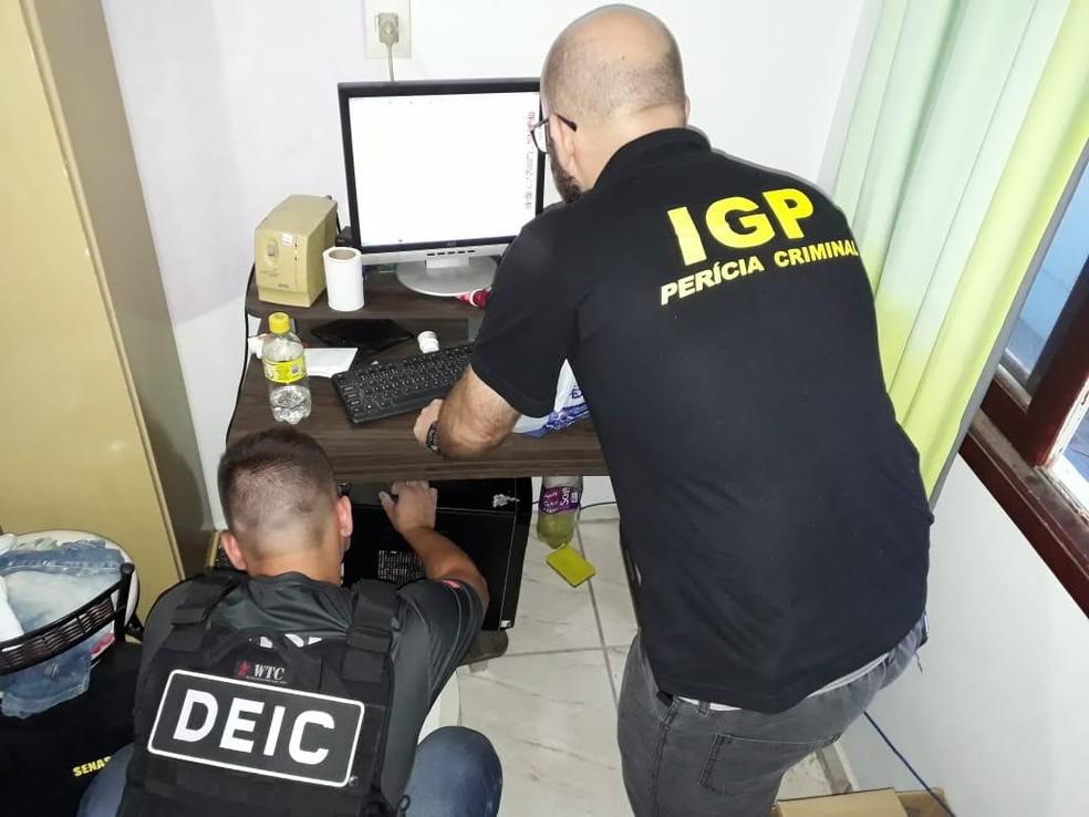 Trabalhos são realizados em quatro cidades de Santa Catarina — Foto: IGP/ Divulgação