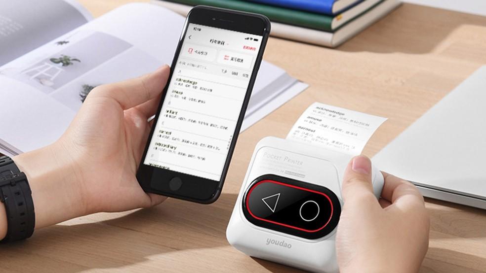 Impressora da Xiaomi usa tecnologia que dispensa a necessidade de trocar cartuchos — Foto: Divulgação/Xiaomi