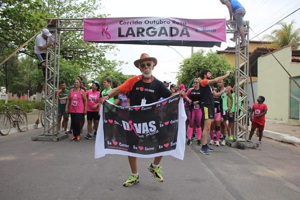 Dom Guloso tinha 70 anos e era o corredor mais antigo em atividade — Foto: Paulo Roberto Meira/ Arquivo pessoal