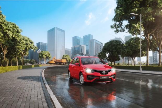 Versão X Plus do novo Toyota Etios 2019, no modelo hatch  (Foto: Divulgação)