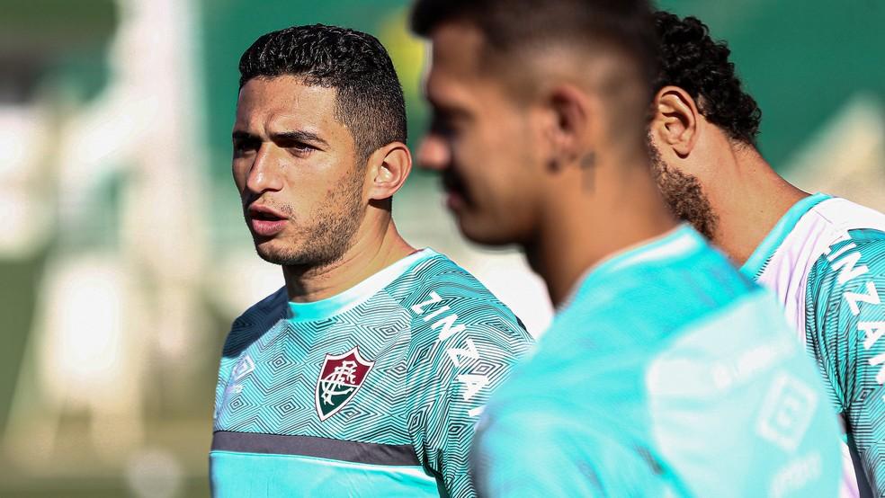 Danilo Barcelos, lateral-esquerdo do Fluminense — Foto: Lucas Merçon FFC
