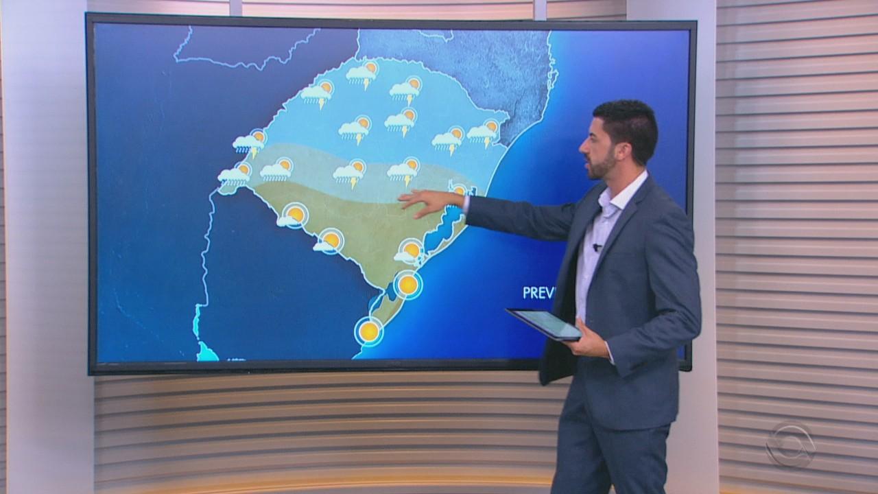 Possibilidade de chuva em parte do RS nesta quinta-feira (21)