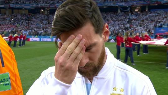 Abatido e desnorteado, Messi perde as forças e chega ao limite pela Argentina