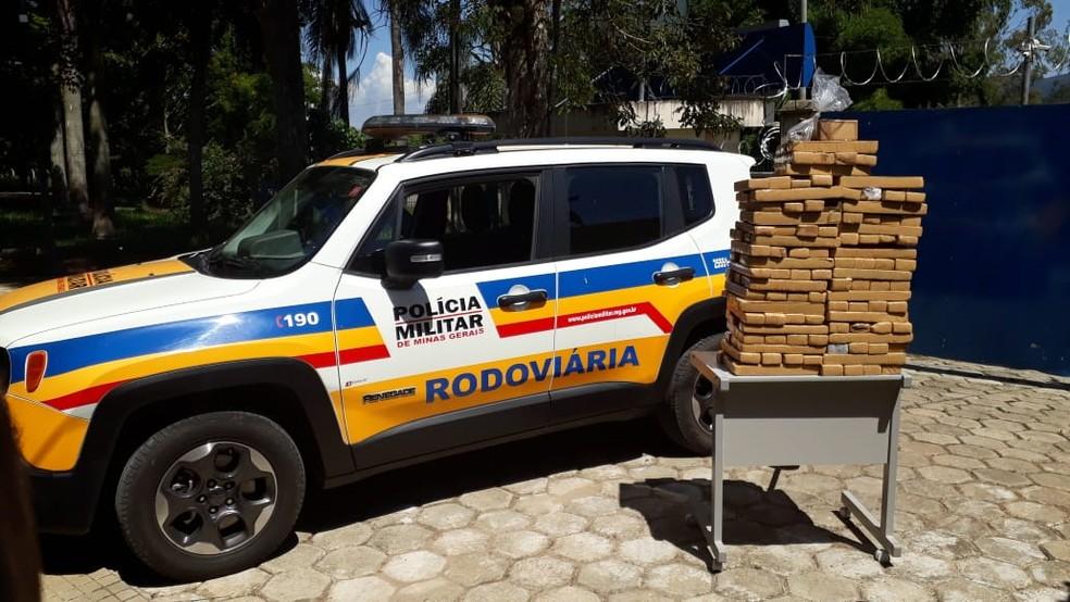 Suspeito fugiu de abordagem em Santa Rita do Sapucaí (MG) — Foto: Polícia Militar Rodoviária