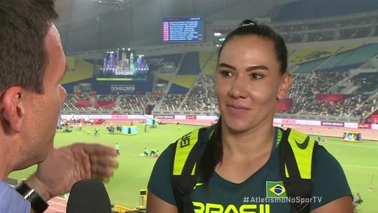 Fernanda Martins faz ótima marca e é finalista no arremesso de disco
