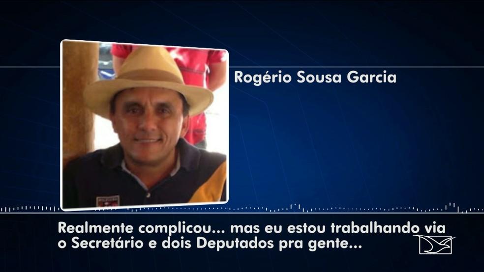 Rogério Sousa fez um áudio em que aponta a participação de deputados e um secretário participando do esquema criminoso (Foto: Reprodução/TV Mirante)