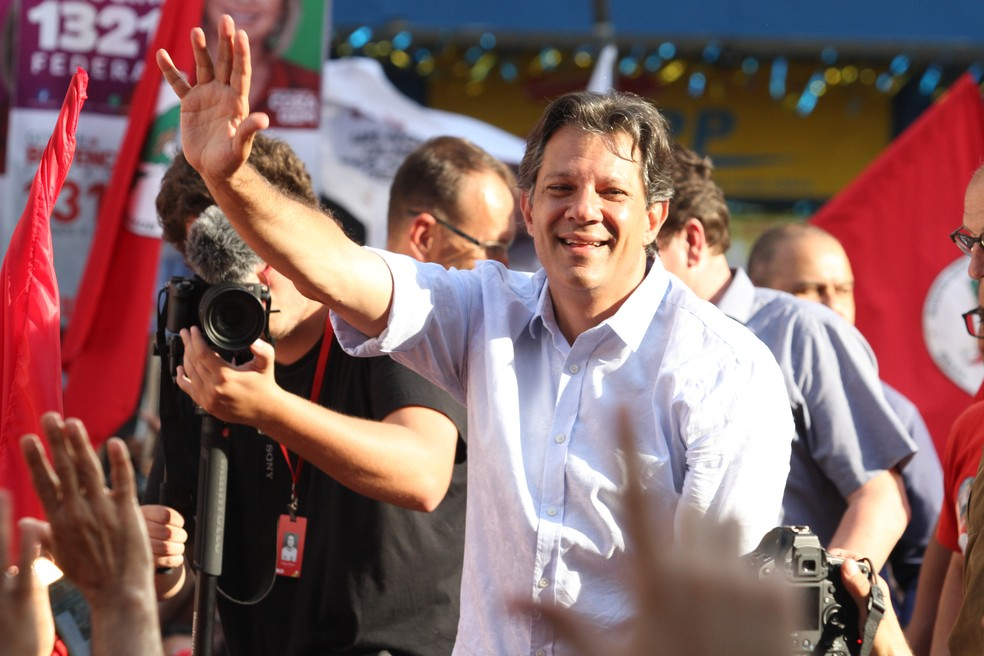 Fernando Haddad, candidato a presidente — Foto: LUCIANO CLAUDINO/CÓDIGO19/ESTADÃO CONTEÚDO