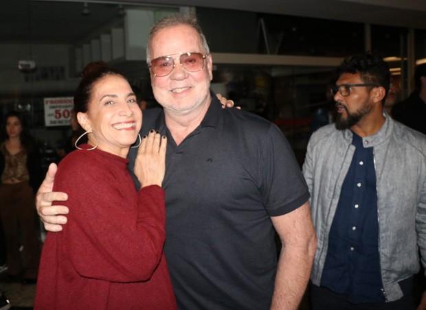 Luiz Fernando Guimarães com Totia Meireles e o marido, Adriano Medeiros (dir) (Foto: Rogério Fidalgo/AgNews)