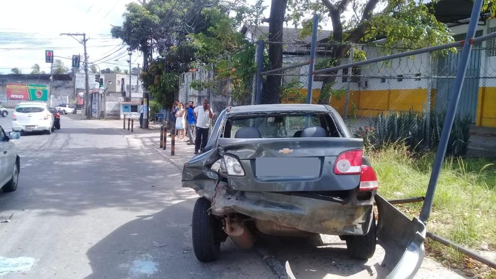 Confronto ocorreu no bairro de Pirajá, em Salvador, na manhã desta quinta-feira (14) — Foto: Cid Vaz/TV Bahia