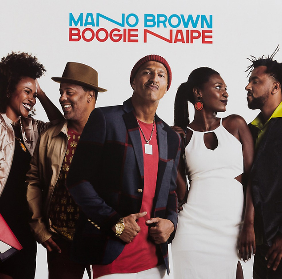 Mano Brown e os vocalistas do álbum 'Boogie Naipe' (Foto: Divulgação / EAEO Records)
