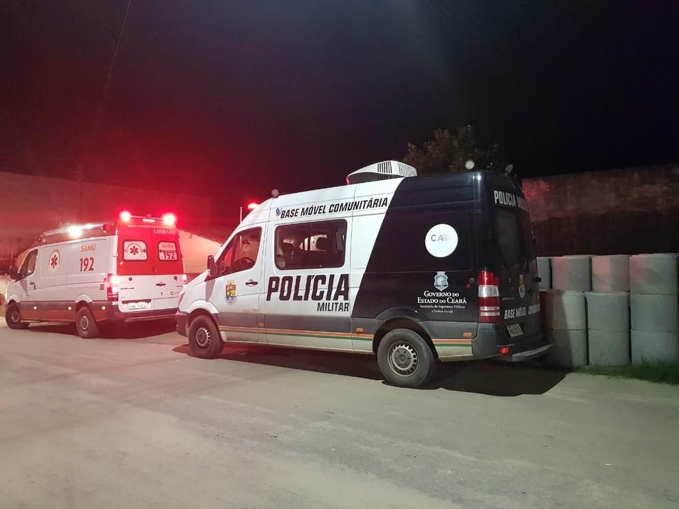 Funcionário de granja, com passagens pela polícia, é morto a tiros em Caucaia, na Grande Fortaleza. — Foto: Rafaela Duarte/ SVM
